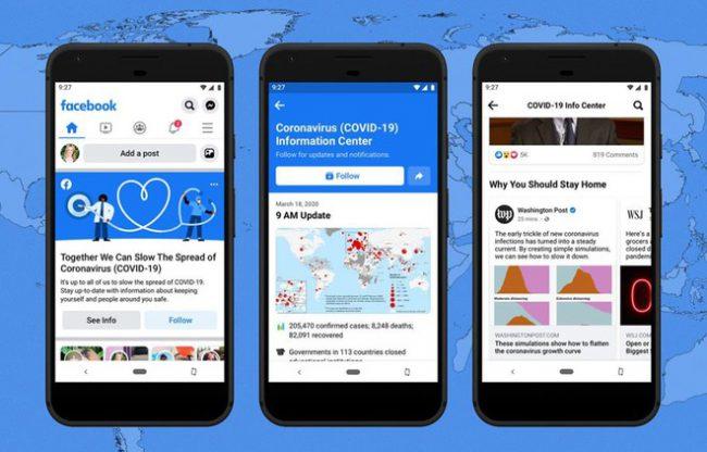 Facebook ra mắt trung tâm thông tin theo thời gian thực về đại dịch Covid-19