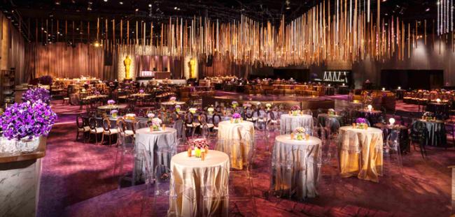 Trang trí tiệc trần ấn tượng ở tiệc chiêu đãi trong khuôn khổ lễ trao giải Oscar. Ảnh: Jerry Hayes Photography