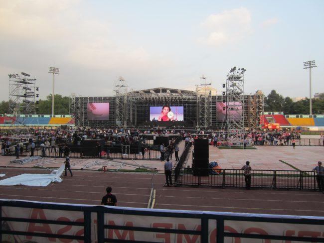 Sân vận động quân khu 7 là một trong những địa điểm tổ chức sự kiện ngoài trời lớn nhất tại TPHCM