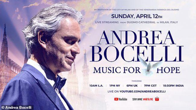 Ảnh: Andrea Bocelli