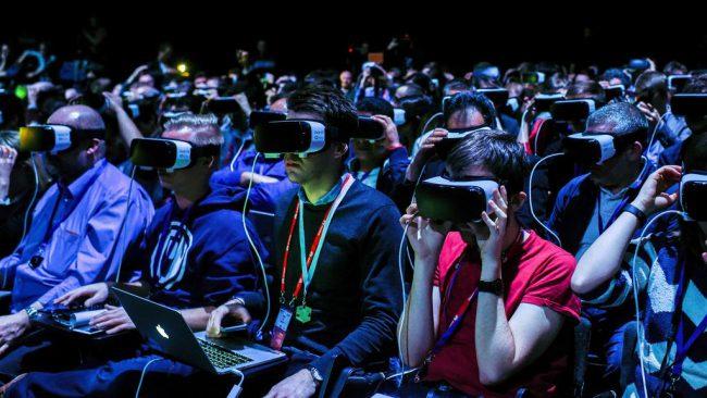 Công nghệ thực tế ảo và thực tế tăng cường ngày càng được sử dụng nhiều trong các sự kiện. Ảnh: The national