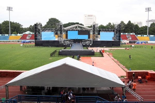 Sân vận động quân khu 7 là địa điểm diễn ra nhiều sự kiện giải trí quy mô lớn.