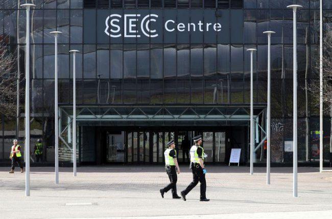 Hội nghị biến đổi khí hậu COP26 hoãn tổ chức, địa điểm được sử dụng làm bệnh viện dã chiến. Ảnh: Reuters