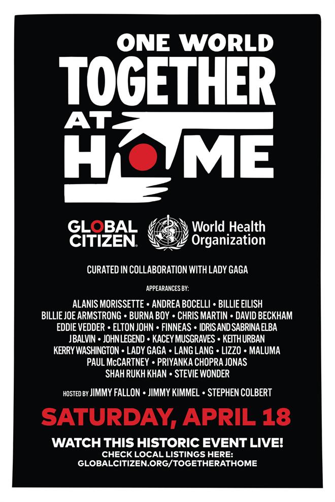 Sự kiện 'One World: Together At Home' sẽ được truyền hình trực tiếp tại Việt Nam