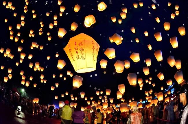 Sự kiện Lễ hội đèn lồng Pingxi. Ảnh: CNN