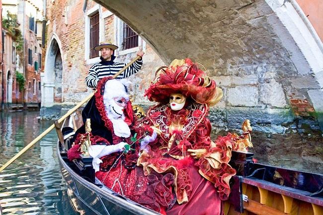 Lễ hội Carnival Venice. Ảnh: Pinterest.