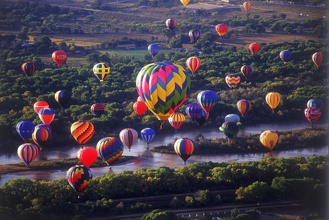 Lễ hội khí cầu Albuquerque International Balloon Fiesta. Ảnh: visitalbuquerque.