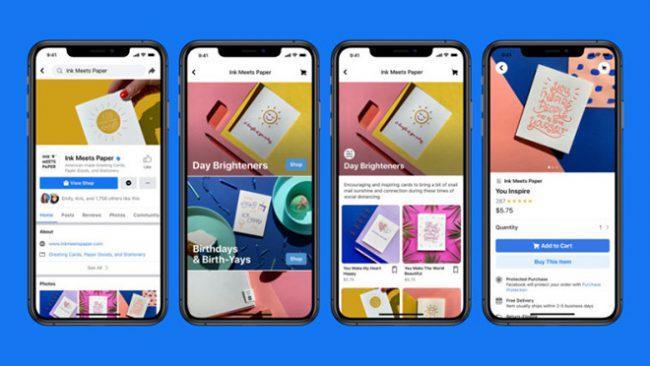 """Facebook chính thức lấn sân vào lĩnh vực thương mại điện tử khi cho ra mắt tính năng """"shops"""". Ảnh: Facebook."""