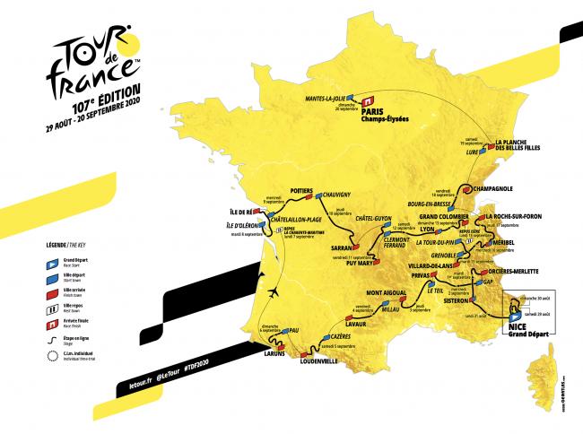 Giải đua xe đạp Tour De France đã được công bố lịch tổ chức mới. Ảnh: cyclingnews
