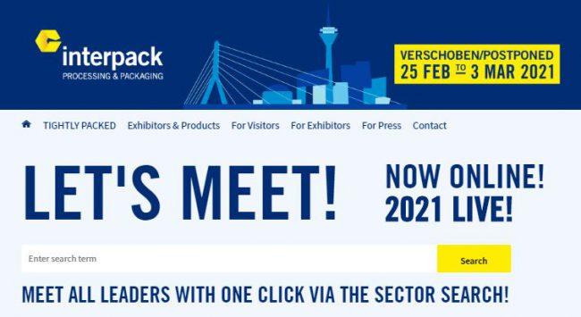 Hội chợ triển lãm Interpack 2020 lần đầu tiên được tổ chức theo hình thức trực tuyến. Ảnh: interpack