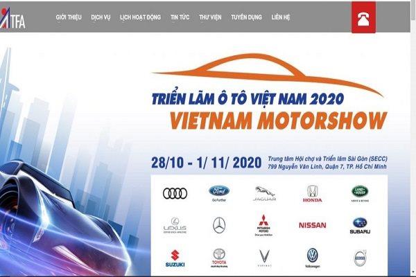 Trên trang web công ty, đến chiều 17/7/2020, ATFA vẫn còn để thông tin sẽ diễn ra Vietnam Motor Show 2020.
