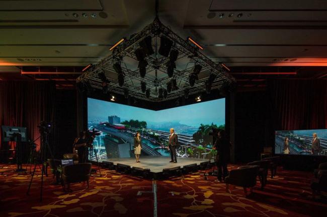 Trường quay phát sóng các sự kiện kết hợp trực tuyến – trực tiếp tại Marina Bay Sand