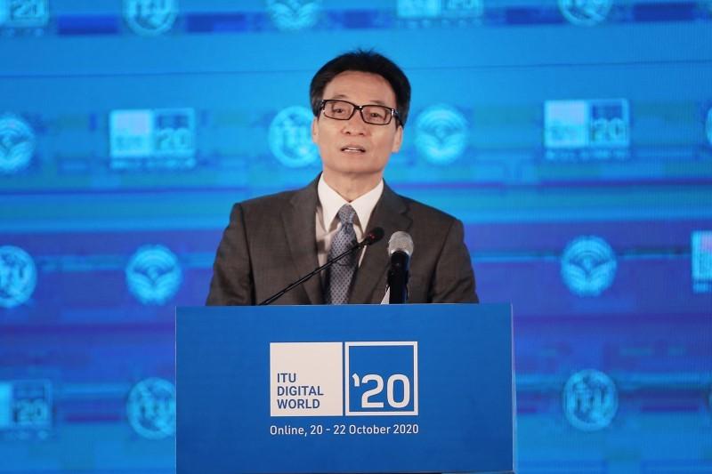 Phó Thủ tướng Vũ Đức Đam phát biểu tại lễ khai mạc Hội nghị và Triển lãm trực tuyến Thế giới số 2020