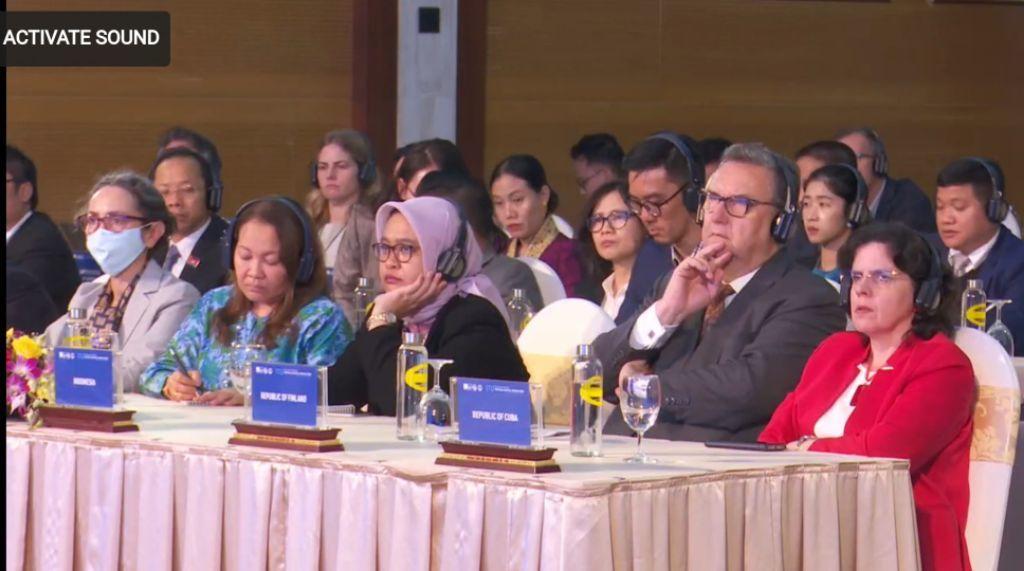 """Các đại biểu quốc tế tham dự lễ khai mạc ITU Virtual Digital World 2020 với chủ đề """"Cùng nhau xây dựng thế giới số""""."""