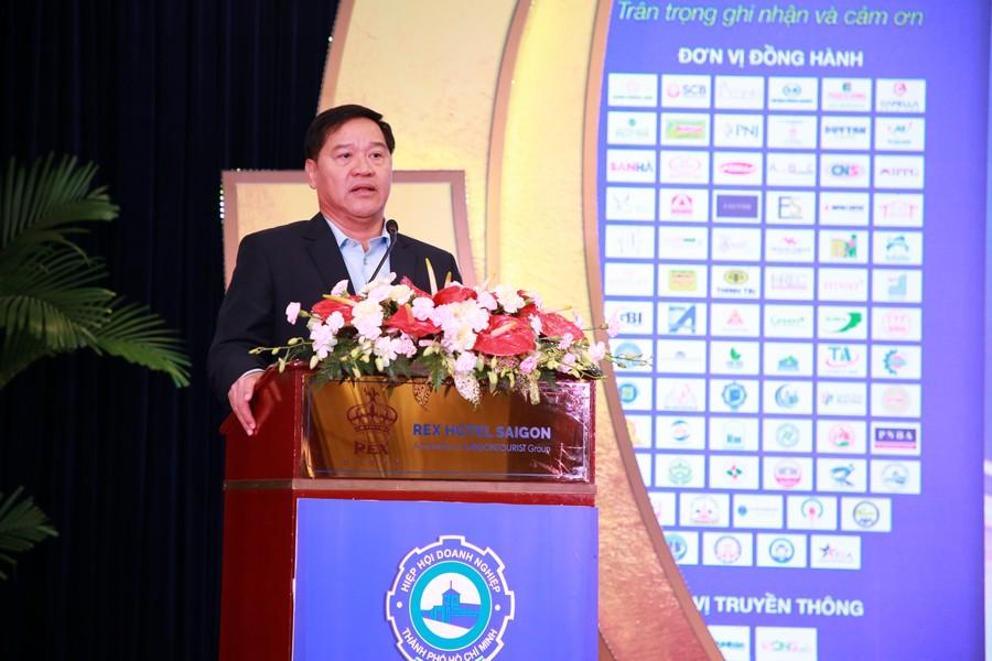 Hội nghị tổng kết năm 2020 và triển khai phương hướng, nhiệm vụ năm 2021 của Hiệp hội Doanh nghiệp TP.HCM. Ảnh 3