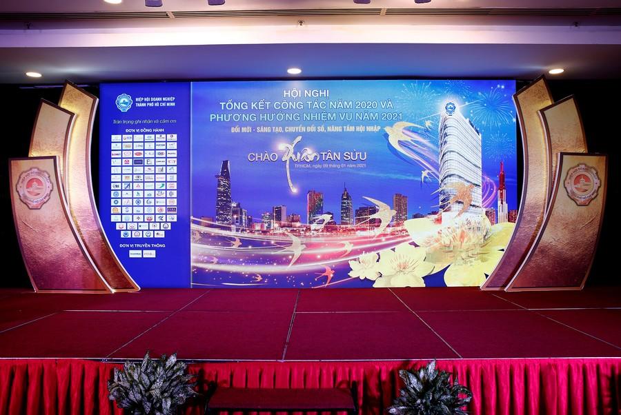 Hội nghị tổng kết năm 2020 và triển khai phương hướng, nhiệm vụ năm 2021 của Hiệp hội Doanh nghiệp TP.HCM. Ảnh 1