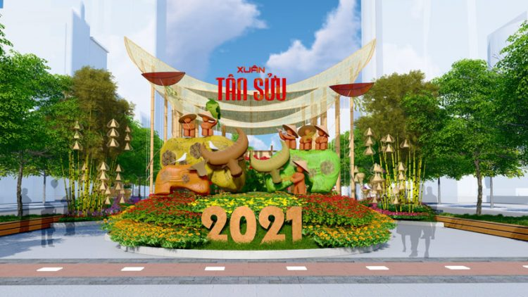 Đường hoa Nguyễn Huệ Tết Tân Sửu 2021: Hội tụ bản sắc, hướng tới tương lai. Ảnh 1.