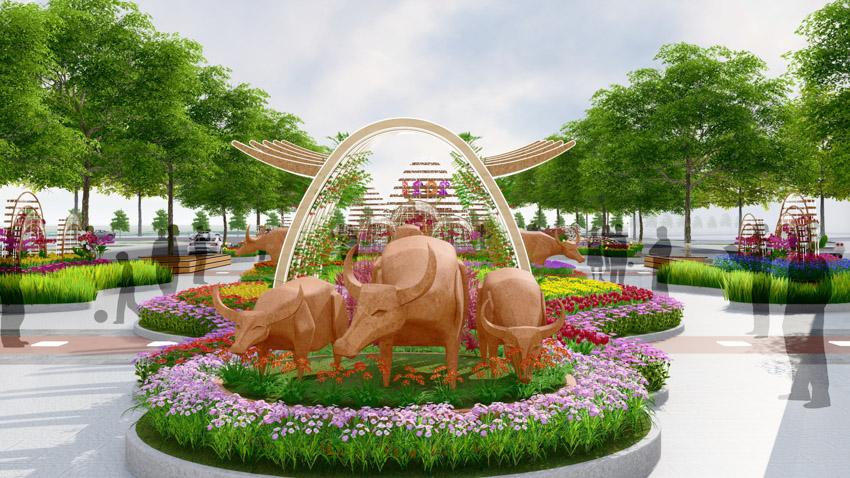 Đường hoa Nguyễn Huệ Tết Tân Sửu 2021: Hội tụ bản sắc, hướng tới tương lai. Ảnh 3.