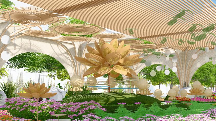 Đường hoa Nguyễn Huệ Tết Tân Sửu 2021: Hội tụ bản sắc, hướng tới tương lai. Ảnh 5