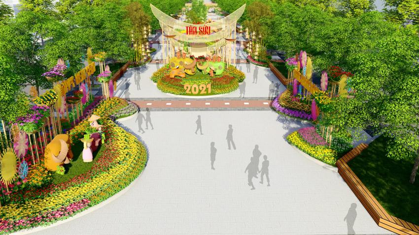 Đường hoa Tết Tân Sửu 2021 là điểm nhấn tại TP.HCM trong mùa Tết nguyên Đán năm nay. Ảnh 6